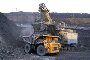 Heavy machines coal mining